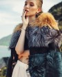 Layered Multicolor Fox Fur Jacket 295c