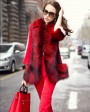 Mink Fur Coat With Fox Fur Trim 747c