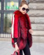Mink Fur Coat With Fox Fur Trim 747d