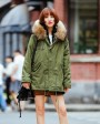 Raccoon Fur Hooded Short Parka 704-2