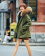 Raccoon Fur Hooded Short Parka 704-3