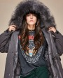 Raccoon Fur Trimmed Hooded Down-filled Parka 125g