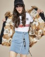 Raccoon Fur Trimmed Hooded Parka with Detachable Fox Fur Liner 116ak