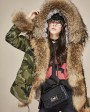Raccoon Fur Trimmed Hooded Parka with Detachable Rex Rabbit Fur Liner 115a