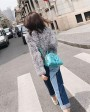 Rex Rabbit Fur Knitted Pullover Sweater Jacket 343e