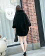 Shearling Lambwool Coat with Fox Fur Collar 735 Black 3