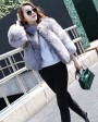 Silver Blue Fox Fur Jacket 992a
