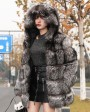 Silver Fox Fur Coat 254k