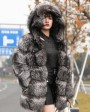 Silver Fox Fur Coat 254m
