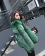 Silver Fox Fur Jacket 0068d