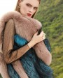 Two-Tone Fox Fur Vest 289g