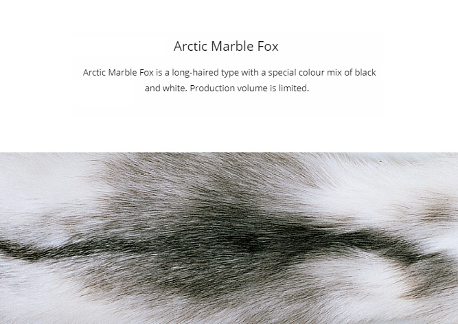 Arctic Marble Fox Fur