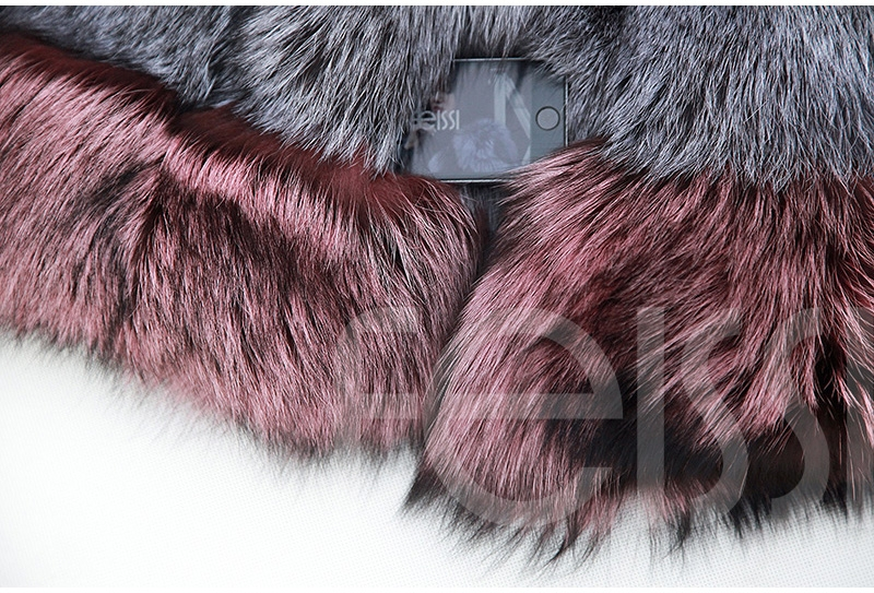Two-tone Silver Fox Fur Cropped Jacket 0006-19