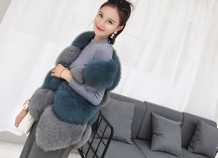 Two-tone Fox Fur Vest 0012-1