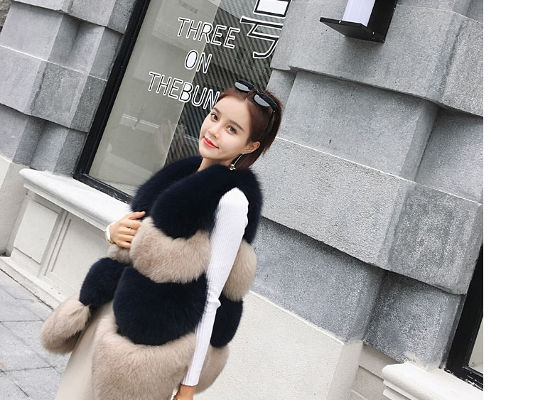 Two-tone Fox Fur Vest 0012-11