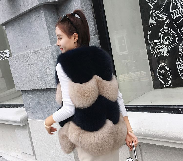 Two-tone Fox Fur Vest 0012-13