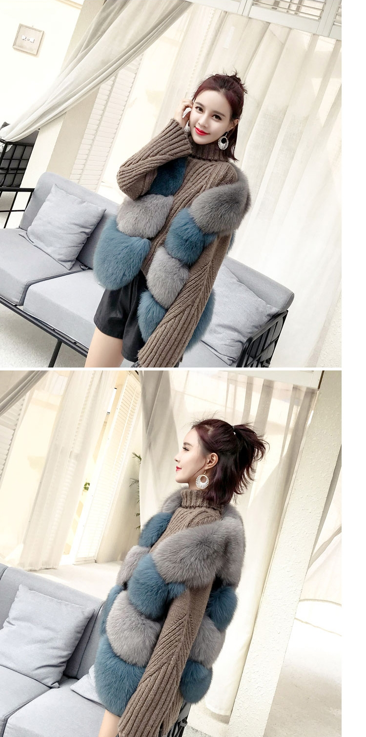Two-tone Fox Fur Vest 0012-15