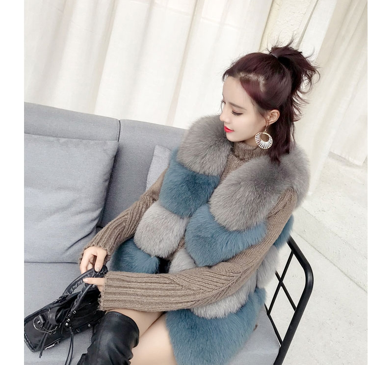 Two-tone Fox Fur Vest 0012-17