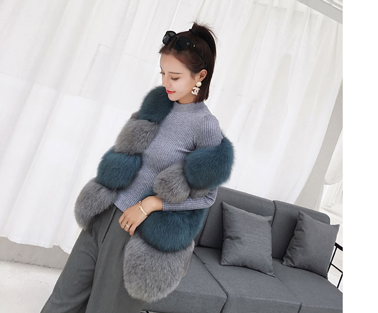 Two-tone Fox Fur Vest 0012-2