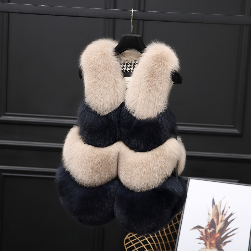 Two-tone Fox Fur Vest 0012-24