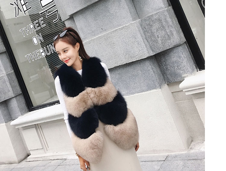 Two-tone Fox Fur Vest 0012-9