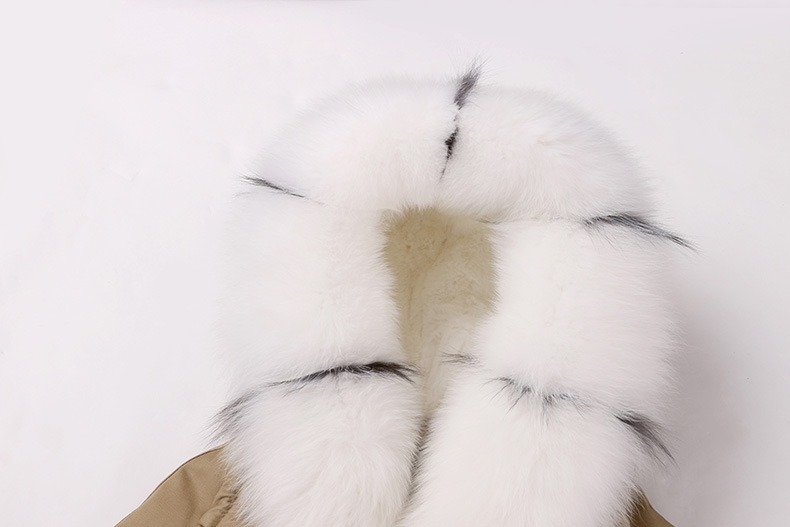 Raccoon Fur Trimmed Hooded Parka with Removable Rabbit Fur Liner 0014-3