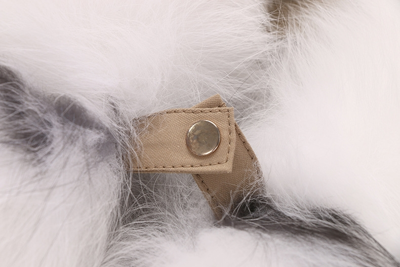 Raccoon Fur Trimmed Hooded Parka with Removable Rabbit Fur Liner 0014-4