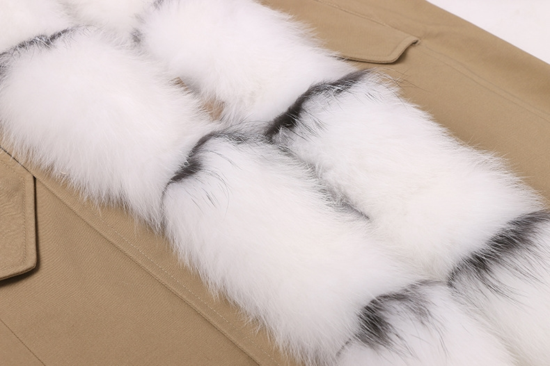 Raccoon Fur Trimmed Hooded Parka with Removable Rabbit Fur Liner 0014-5
