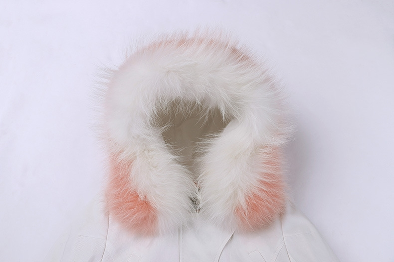 Raccoon Fur Trimmed Hooded Down-filled Winter Coat 0015-2
