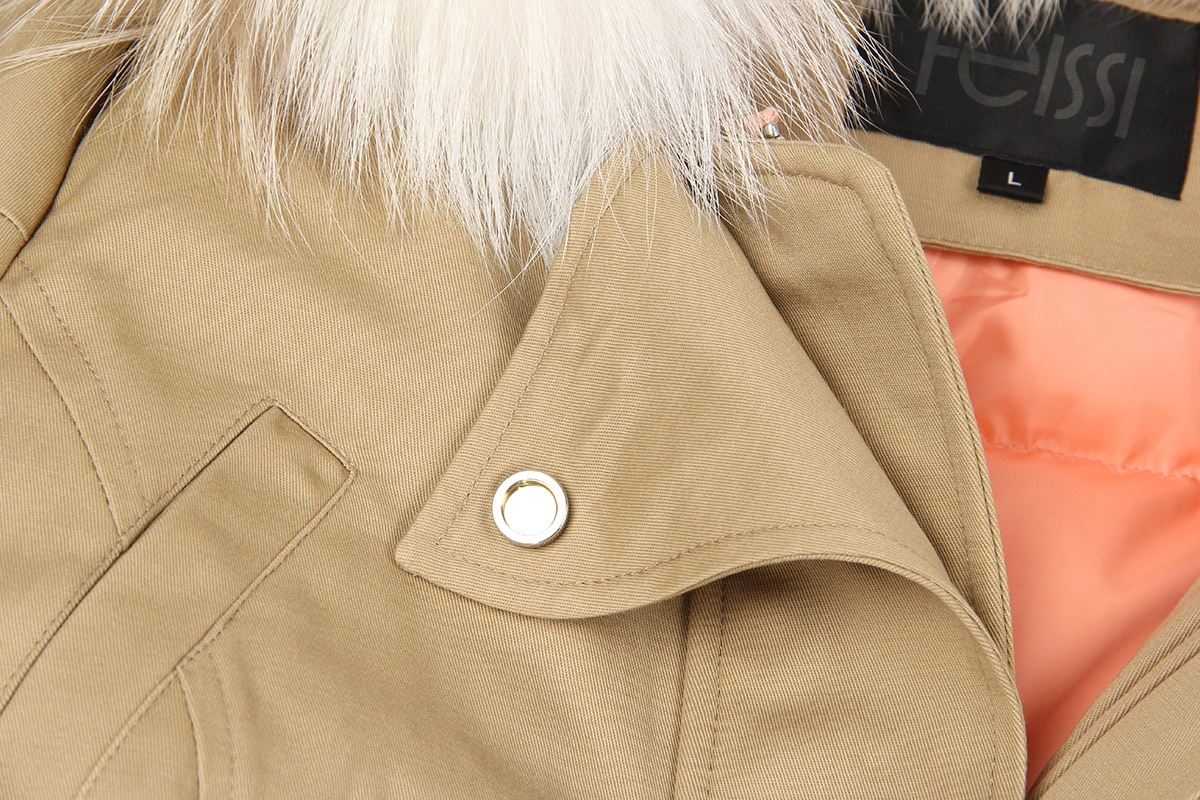 Raccoon Fur Trimmed Hooded Down-filled Winter Coat 0015b-4