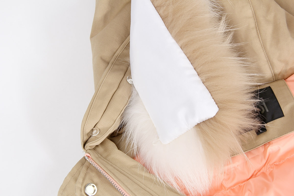 Raccoon Fur Trimmed Hooded Down-filled Winter Coat 0015b-8