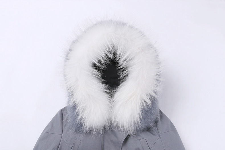 Raccoon Fur Trimmed Hooded Down-filled Winter Coat 0015c-2