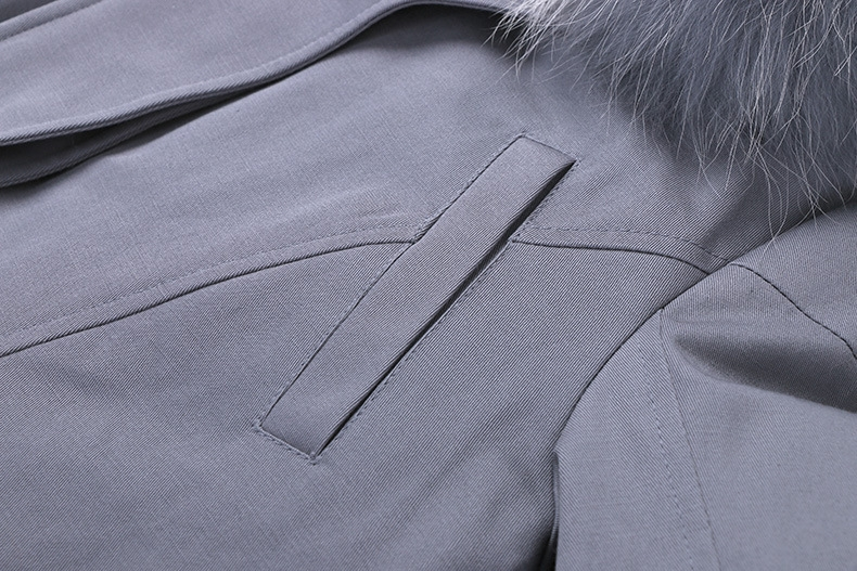 Raccoon Fur Trimmed Hooded Down-filled Winter Coat 0015c-3