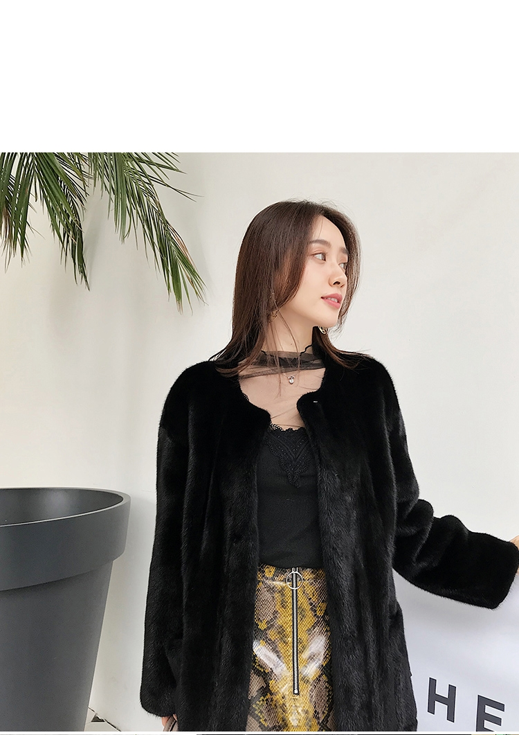 Mink Fur Long Coat 0028-10