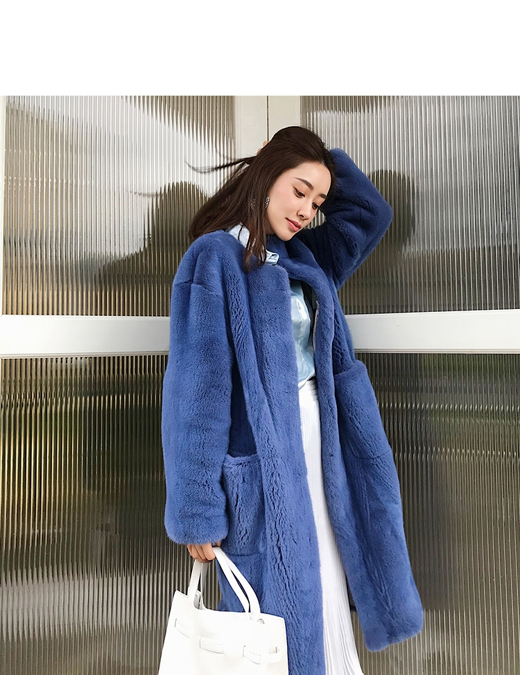 Mink Fur Long Coat 0028-3