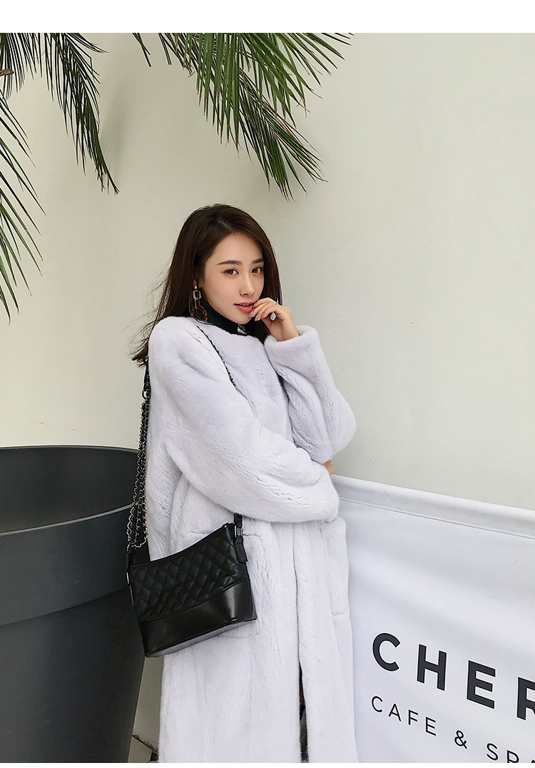 Mink Fur Long Coat 0028-4