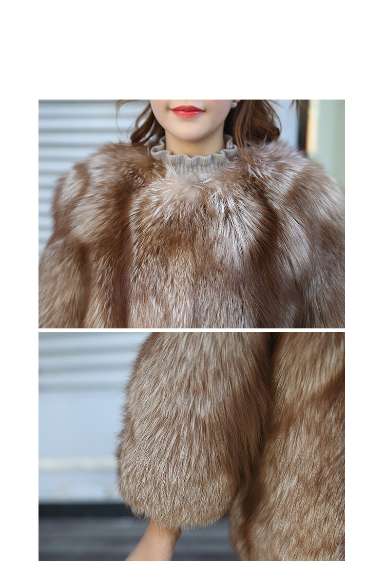 Chocolate Fox Fur Jacket 003 Details 4