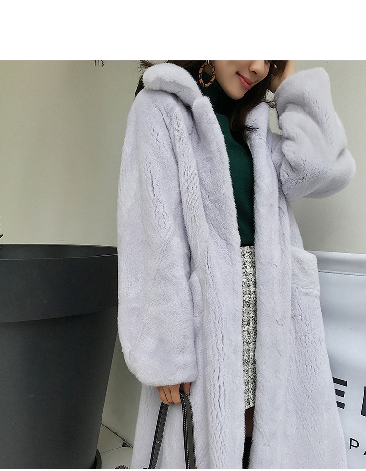 Mink Fur Long Coat 0030-11