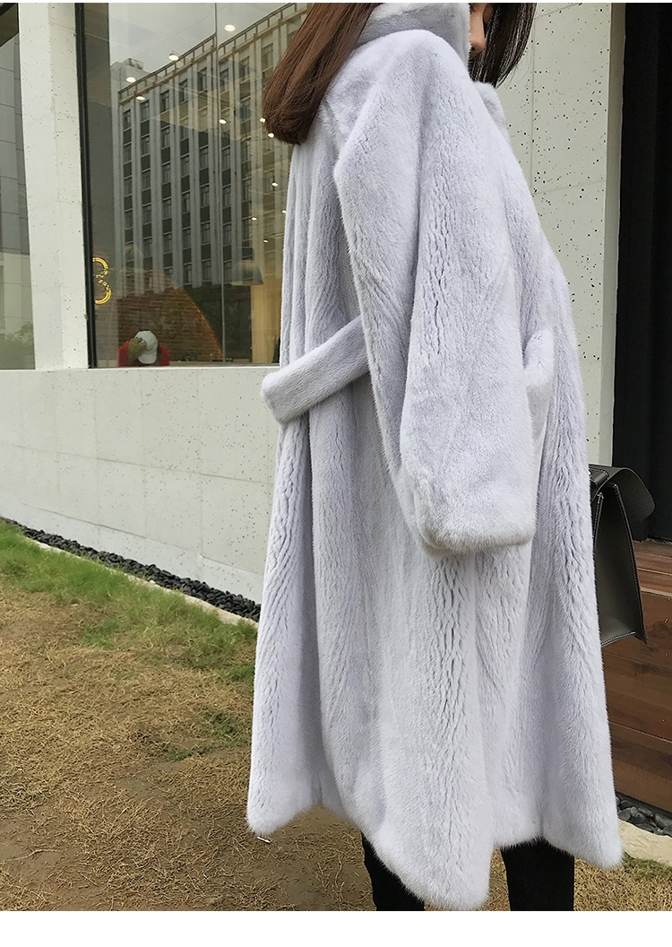 Mink Fur Long Coat 0030-12
