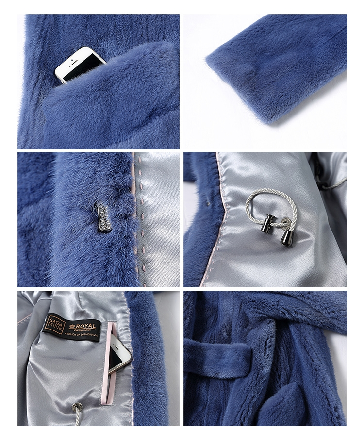 Mink Fur Long Coat 0030-2
