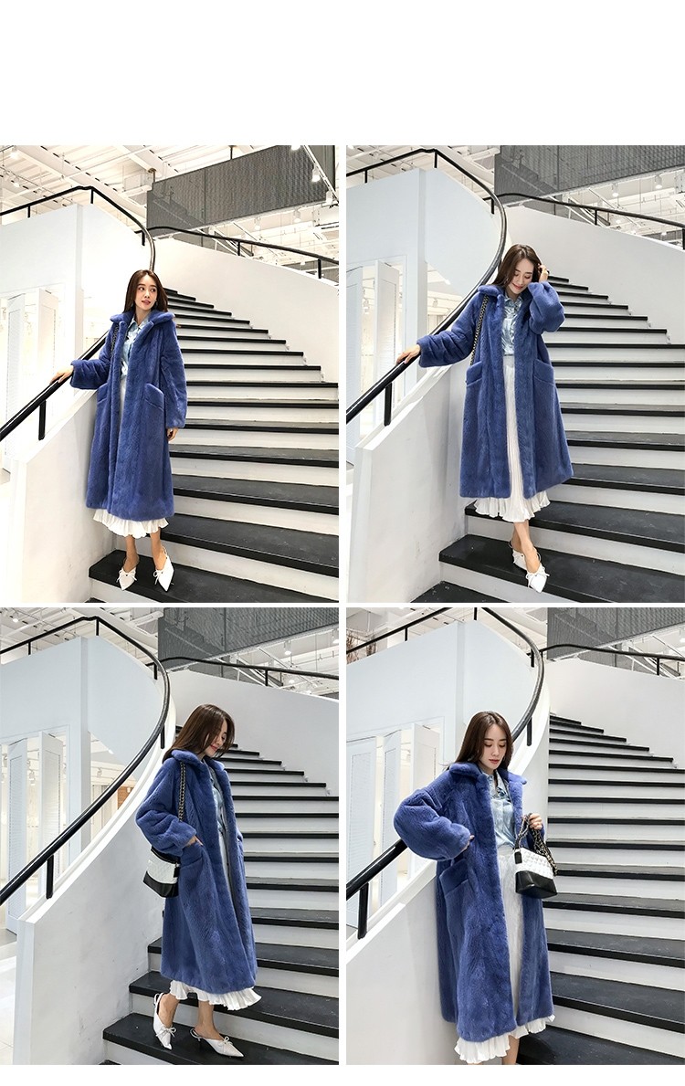 Mink Fur Long Coat 0030-4