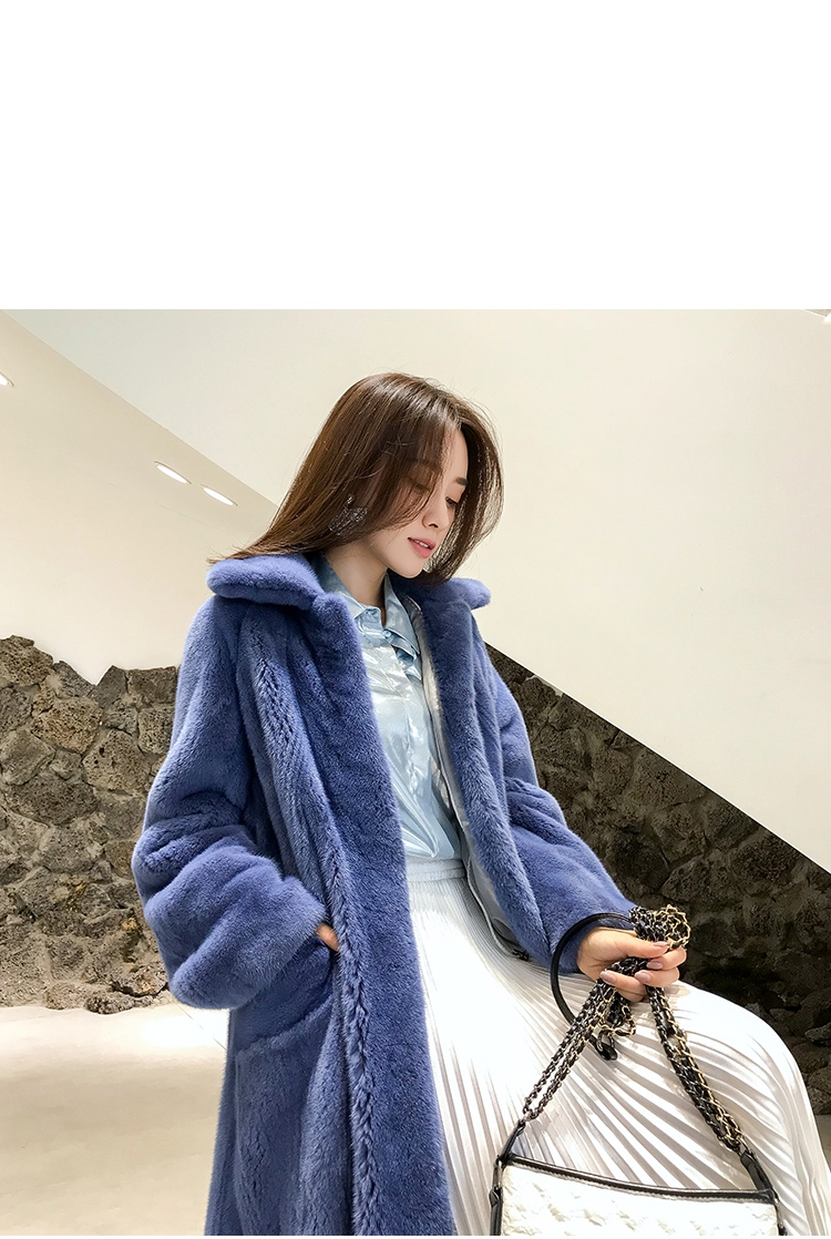 Mink Fur Long Coat 0030-5