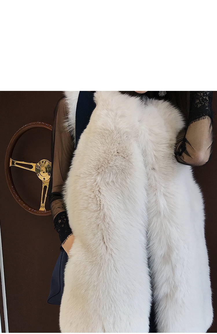 Fox Fur Vest with Mink Fur Back 0040-2