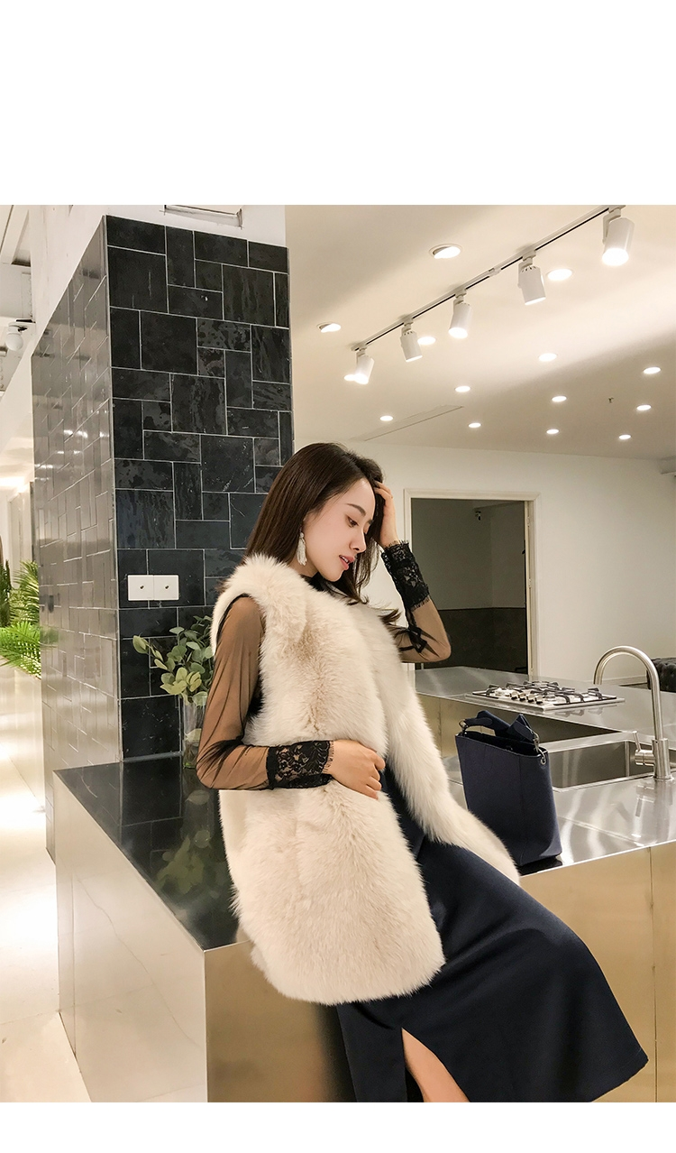 Fox Fur Vest with Mink Fur Back 0040-3