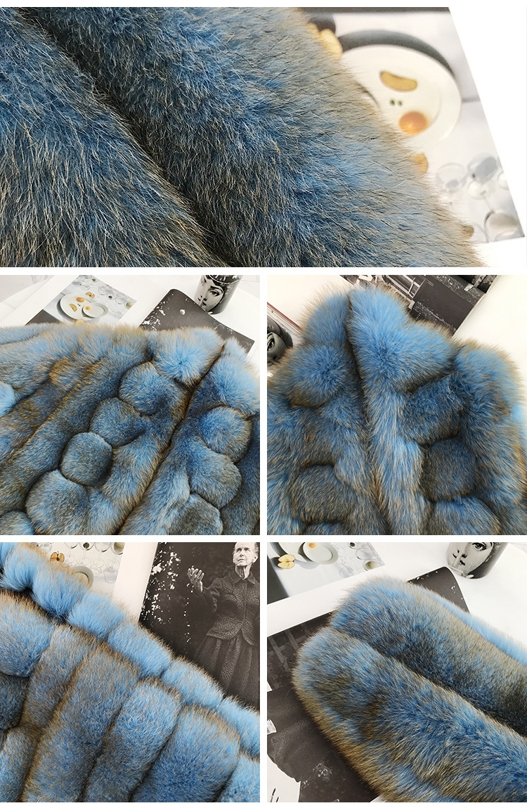 Fox Fur Long Coat 0053-2