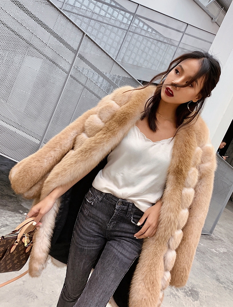 Fox Fur Long Coat 0053b-2