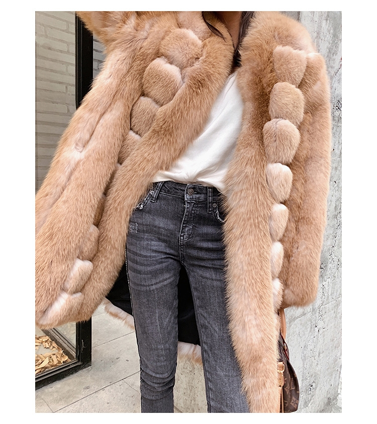 Fox Fur Long Coat 0053b-3