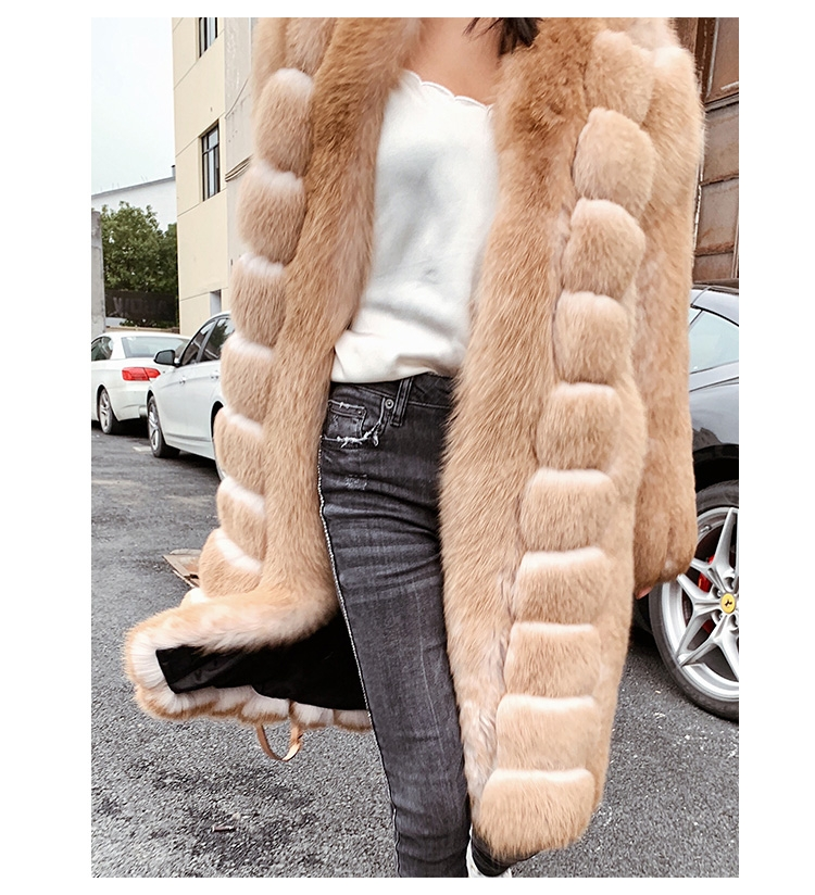 Fox Fur Long Coat 0053b-4