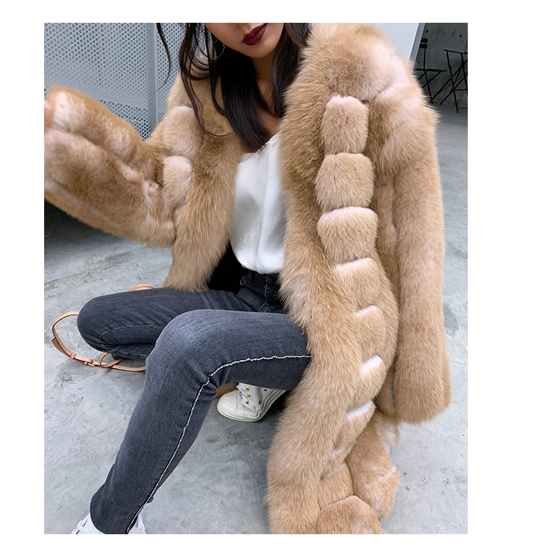 Fox Fur Long Coat 0053b-5