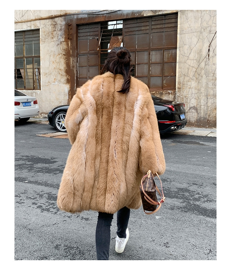 Fox Fur Long Coat 0053b-7